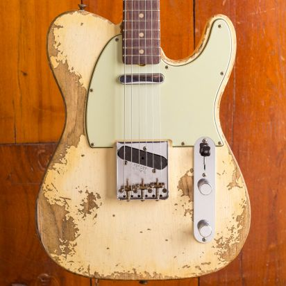 Fender W19 LTD 63 Telecaster Super Heavy Relic - Superfaded Aged Vintage White