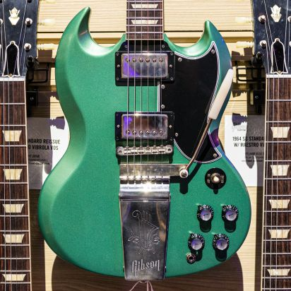 Gibson CS 1964 SG Standard Reissue, Maestro Vibrola, VOS, Inverness Green Metallic
