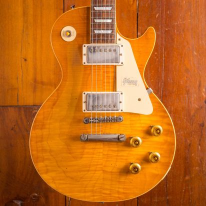 Gibson CS 1958 Les Paul Standard Honey Lemon Fade Heavy Aged