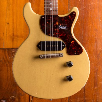 Gibson CS Les Paul Junior DC - Max 15th limited run Aged TV Yellow, #Max 018