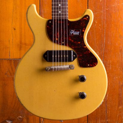Gibson CS 1959 Les Paul Junior  DC Heavy Aged TV Yellow