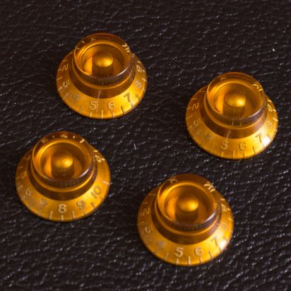 GuitarSlingerParts Aged GOLD BELL Knobs Set (4)
