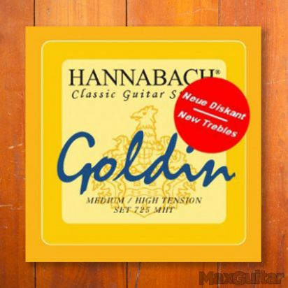 Hannabach 7254MHT, Medium/High Tension Goldin, D4
