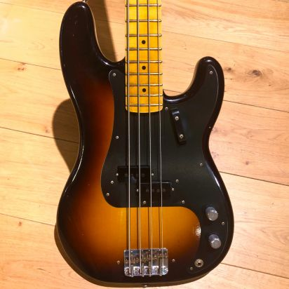 Fender CS 1958 LTD Precision Bass Journeyman Relic Maple Fingerboard Wide Fade 2-Color Sunburst