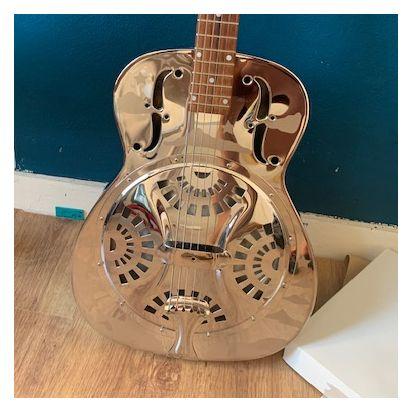 Dobro DM-33 'Hawaiian' resonator guitar chrome