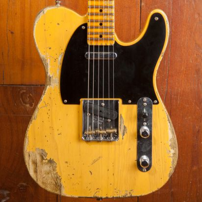 Fender CS NAMM 1952 Telecaster Heavy Relic Aged Butterscotch