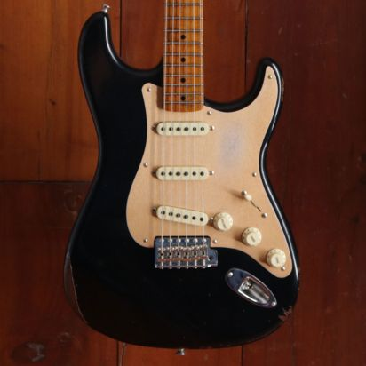 Fender CS LTD NAMM 1956 Stratocaster, Roasted Maple Neck, Relic, Black