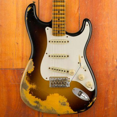 Fender CS LTD 1956 Stratocaster, Super Faded Aged 2-Color Sunburst