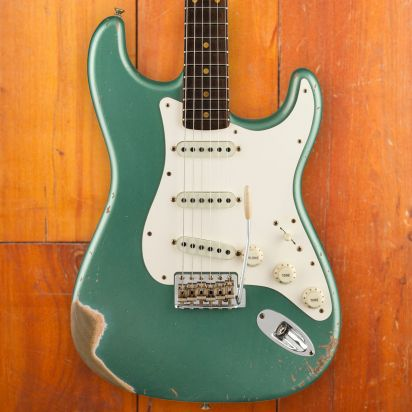 Fender CS LTD, Relic, Faded Aged Sherwood Green Metallic