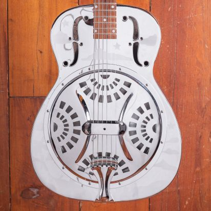 Dobro DM-33 'Hawaiian' resonator guitar chrome