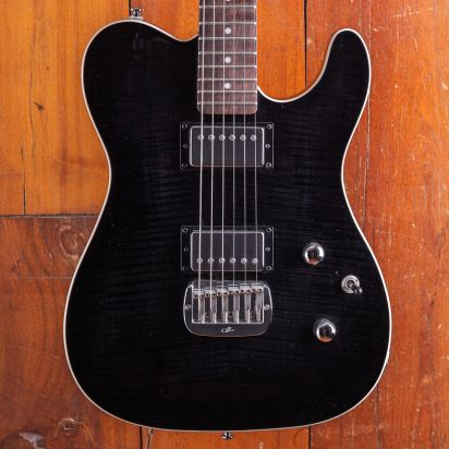 G&L Tribute ASAT Deluxe Top Trans Black HH