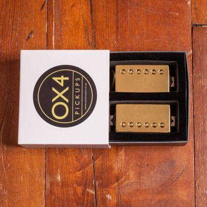 OX4 Pickups Humbucker Set Gold