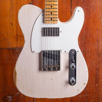 Fender CS 1958 Telecaster Relic Maple Neck Aged White Blond