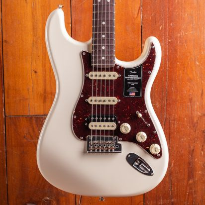 Fender American Professional II Stratocaster, HSS, Rosewood, Olympic White