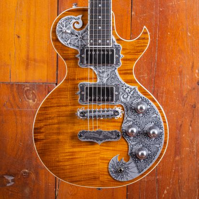 Teye Fox Flamed Maple Top, Amber Finish