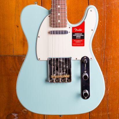 Fender LTD Am Pro Tele, RW, Roasted Neck Daphne Blue