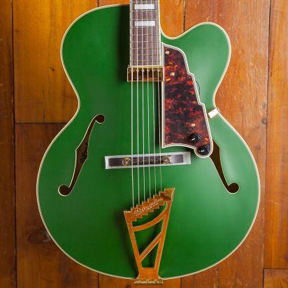 D'Angelico Deluxe EXL-1 Ebony Fingerboard Matte Emerald