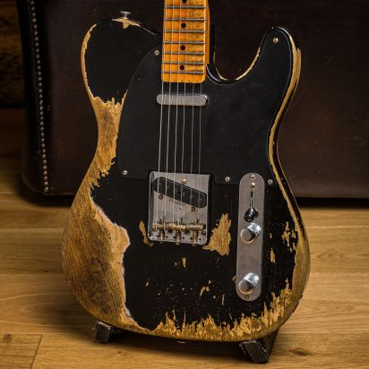 Fender CS 1951 Telecaster, Aged Black, Super Heavy Relic