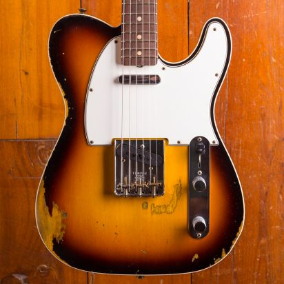 Fender CS 64 Tele Custom Heavy Relic - Faded 3 Tone Sunburst