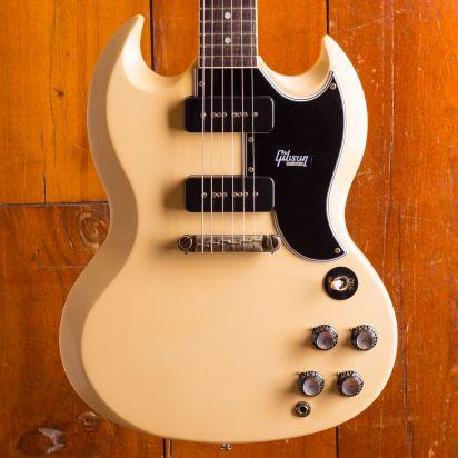 Gibson CS 1963 SG Special Reissue Polaris White Lightning bar
