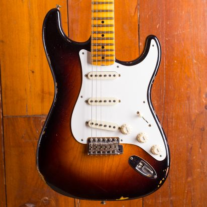 Fender CS LTD 1956 Relic Stratocaster 2-Tone Chocolate burst