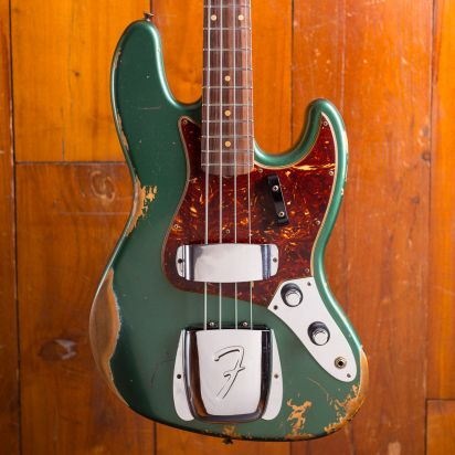 Fender CS 1960 Jazz Bass Heavy Relic Aged Sherwood Green Metallic