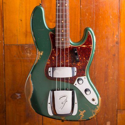Fender CS 1960 Jazz Bass Heavy Relic Aged Sherwood Green Metallic