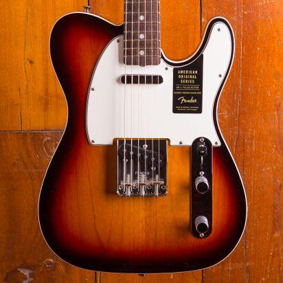 Fender American Original 1960s Telecaster RW, 3-Tone Sunburst