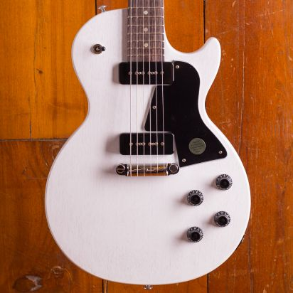 Gibson Les Paul Special Tribute P-90 Rosewood Fingerboard Worn White Satin