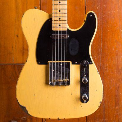Fender CS 1952 Telecaster Relic Maple Neck Nocaster Blond