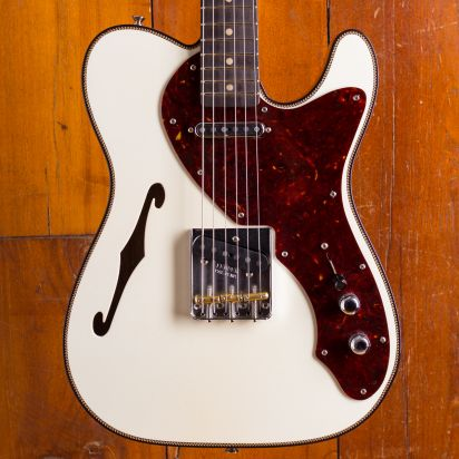 Fender CS Limited Edition Artisan Thinline Telecaster African Blackwood Fingerboard Aged Olympic White