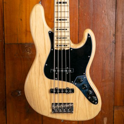 Fender American Elite Jazz Bass V Ash Maple Fingerboard Natural