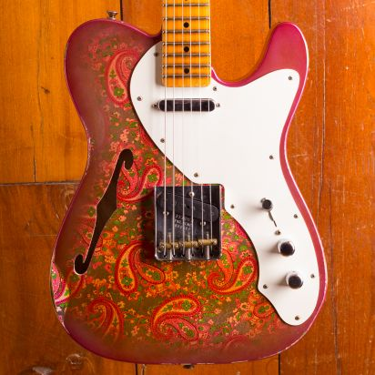 Fender Custom Shop Telecaster 1950's NAMM Limited Heavy Relic Thinline, Pink Paisley