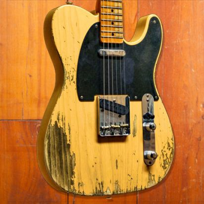 "Fender CS 52 Tele Vince van Trigt Masterbuilt LTD Maxguitar exclusive  ""FUBAR"" Relic Butterscotch Blonde"