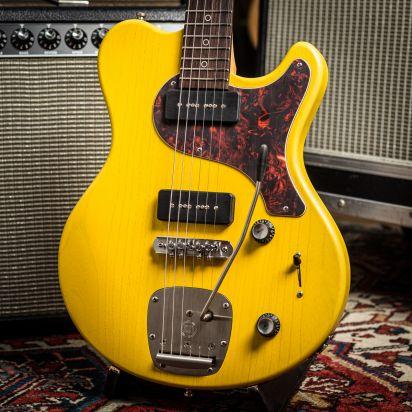 Nik Huber 'Piet' TV Yellow Jazzmaster, Mastery Tremolo