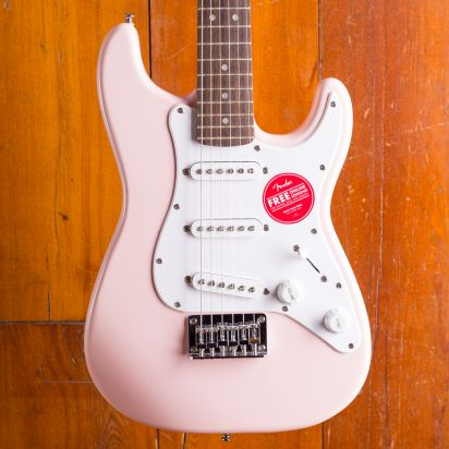 Squier Mini Stratocaster Indian Laurel Fingerboard Shell Pink