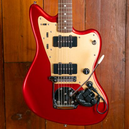 Squier Deluxe Jazzmaster with Roland GK-3 unit, Candy Apple Red