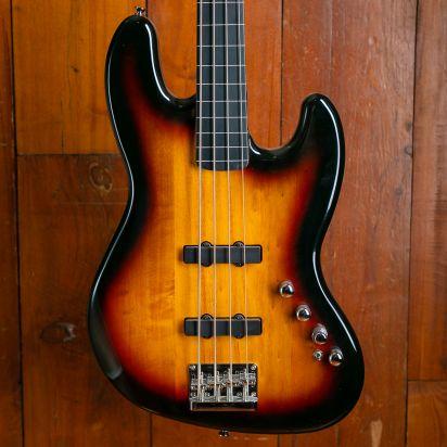 Theos Jazz Bass, Brown, Black Edge