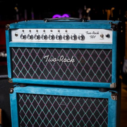 Two-Rock TS-1 100W Head & 212 Cab Blue Suede Diamond Cloth