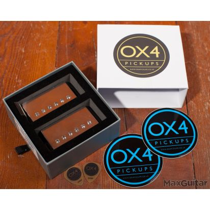 OX4 Humbucker Set Low Output, Aged