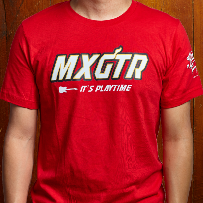 Max Guitar MXGTR T-shirt red small