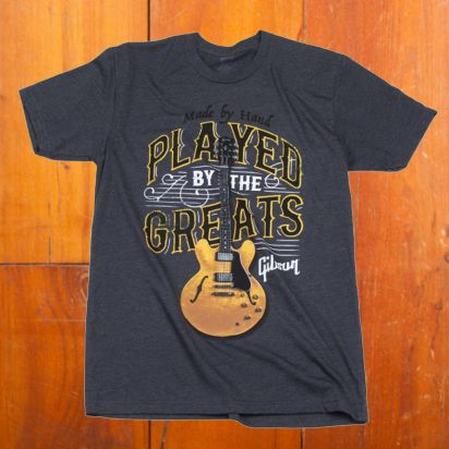 Gibson Played By the Greats T (Charcoal),Large