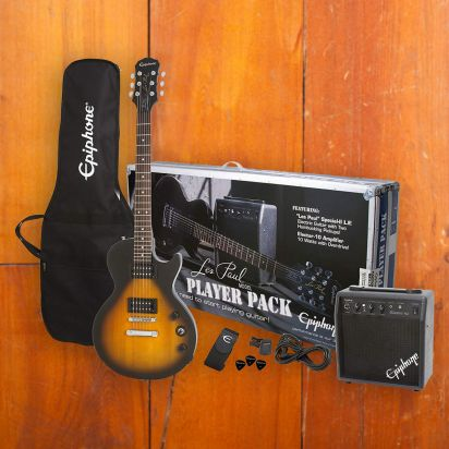 Epiphone Les Paul Player Pack, Vintage Sunburst