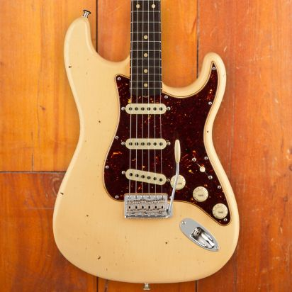 Fender CS Postmodern Stratocaster, Journeyman Relic, Aged Vintage White, Closet Classic Hardware