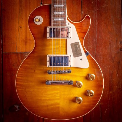 Gibson CS 1958 Les Paul Flametop New Old Stock Iced Tea