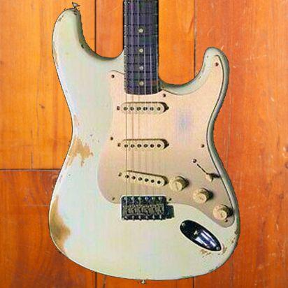 Fender CS 1960 Strat Heavy Relic Olympic White