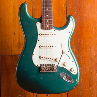 Fender CS 1965 Strat JRN Relic Sherwood Green metallic