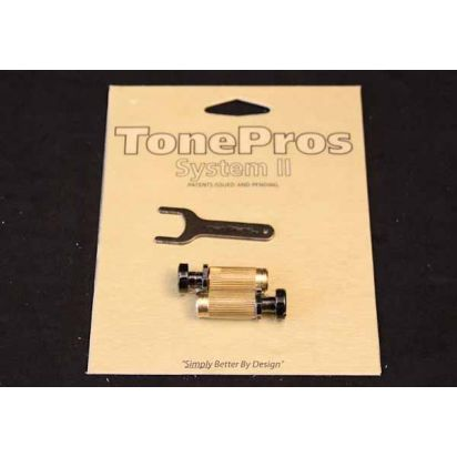 Tone Pro's Sbs1-Blk Lock Studs Us Thread Bk