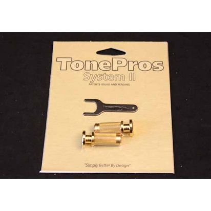 Tone Pro's Sprs2-Gld Prs Lock Studs Gld