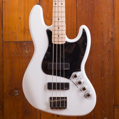 Squier Contemporary Active Jazz Bass HH MF Flat White